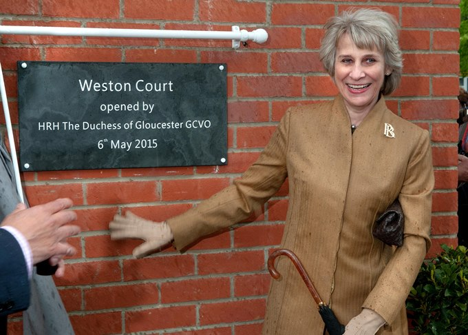 Duchess of Gloucester with opening signage.jpg
