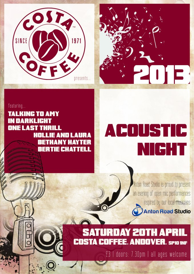 Costa Open Mic 2 Poster
