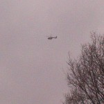 Police Helicopter Up Over Andover