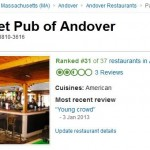 Wrong Image for Andover Pub on Trip Advisor