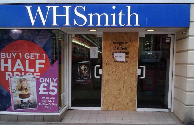 WH Smith Door Damaged