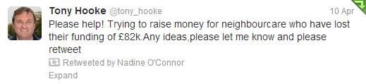 Tony Hooke Twitter