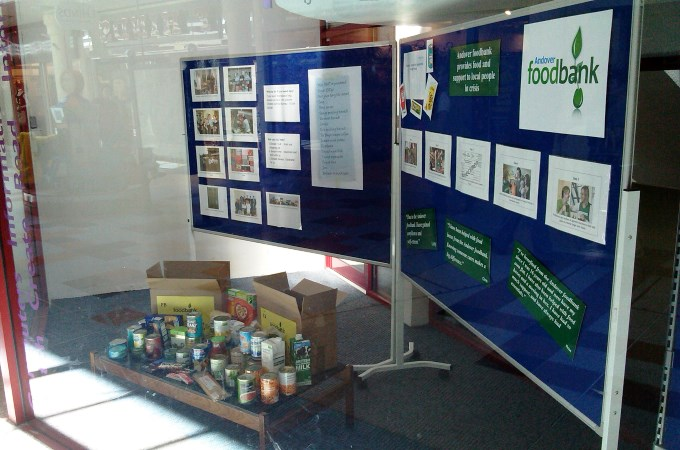Andover Foodbank in Library