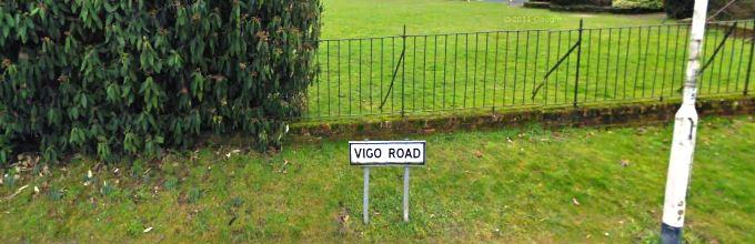 Vigo Road Sign