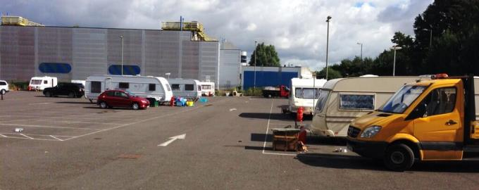 Traveller Site in Andover