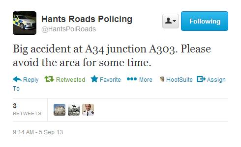 A34 A303 Accident