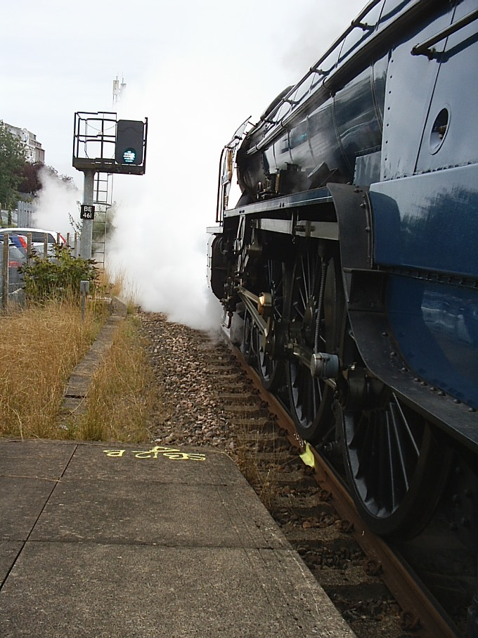 Tornado Steam Train Visits Andover