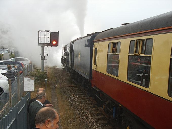Tornado Steam Train Visits Andover