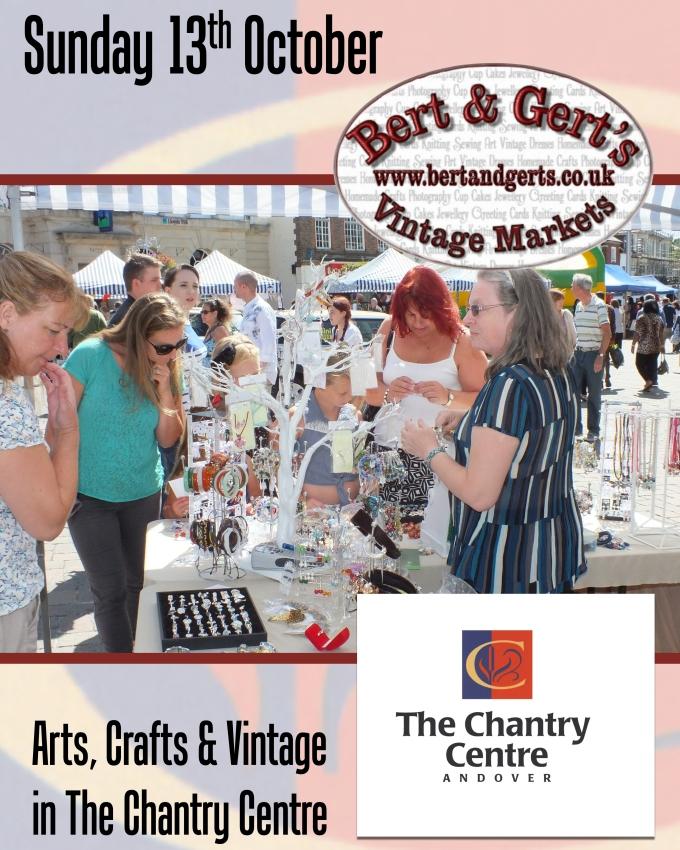 Chantry Centre Vintage Market Poster