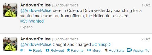 Twitter Post - Police Helicopter - Colenzo Drive