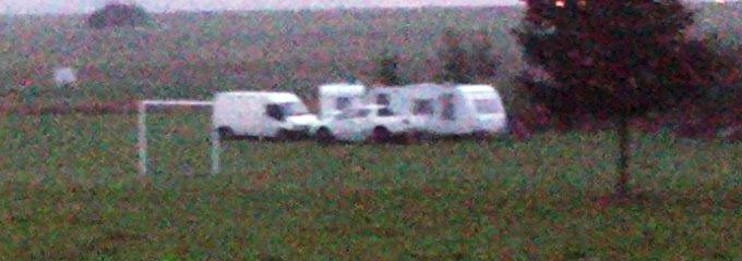 Travellers on Smannell Road in Andover