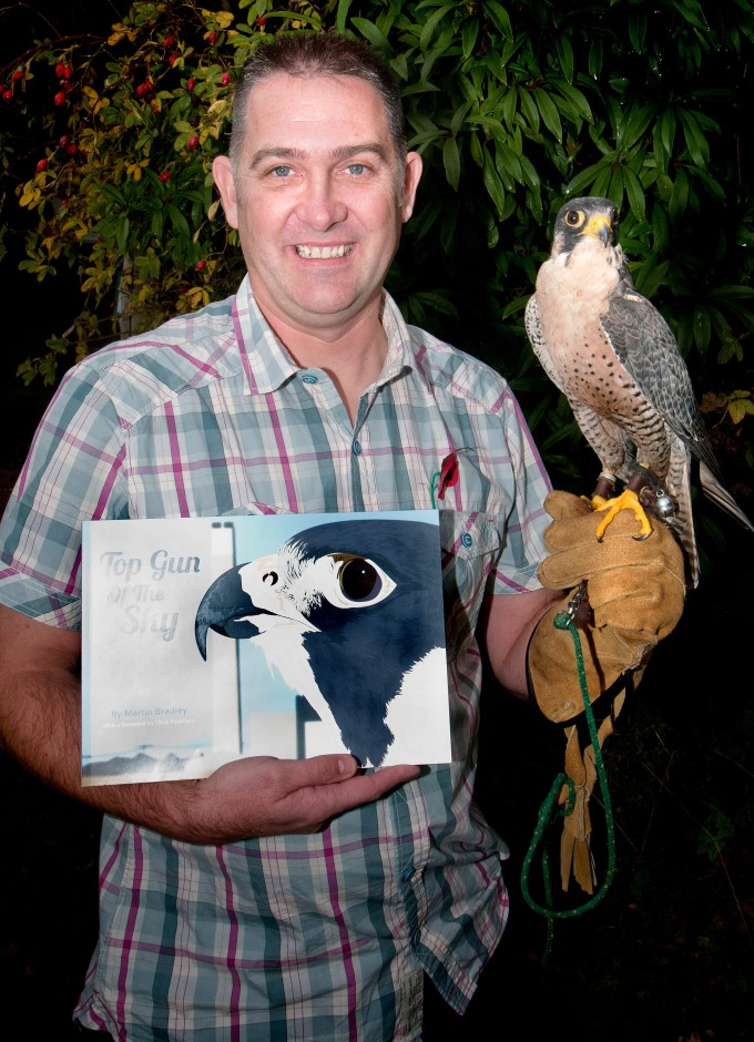 HCT - Martin Bradley with his Book