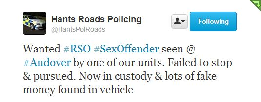 Police Twitter Re RSO