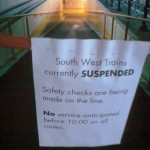 No South West Trains Till 10am Today