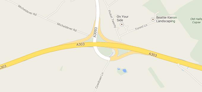 A303 to Picket Twenty Map