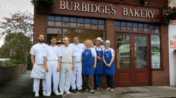 Burbidge's Bakery Shop and Staff