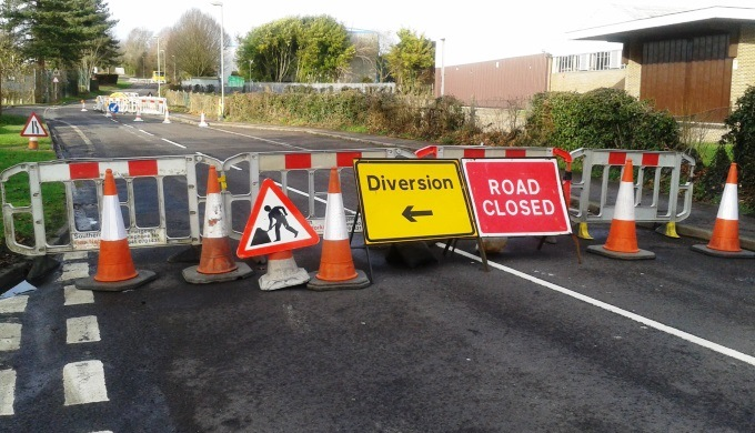 River Way Road Closed