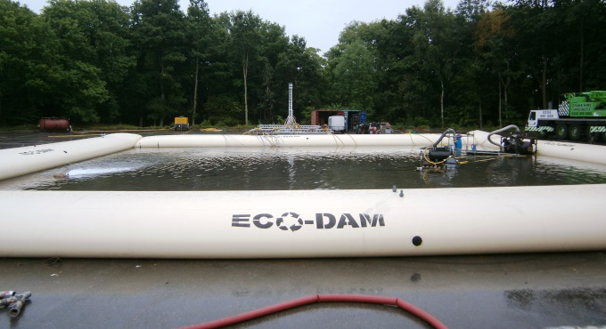 Eco-Dam Used as a Water Tank