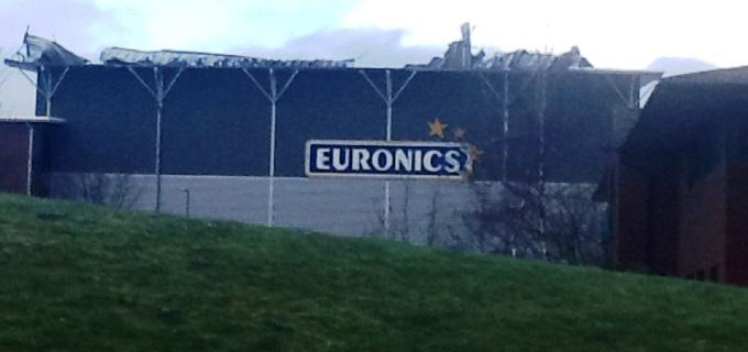 Euronics Building Damaged