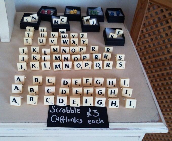 Lonefairy Scrabble Cufflinks