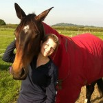 Nicki with her other horse Ruby