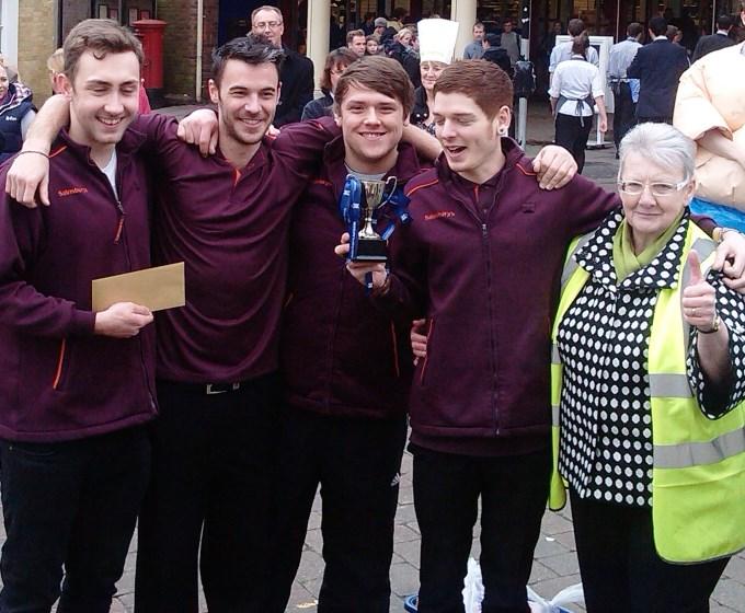 Pancake Race 2014 - Sainsbury Winners