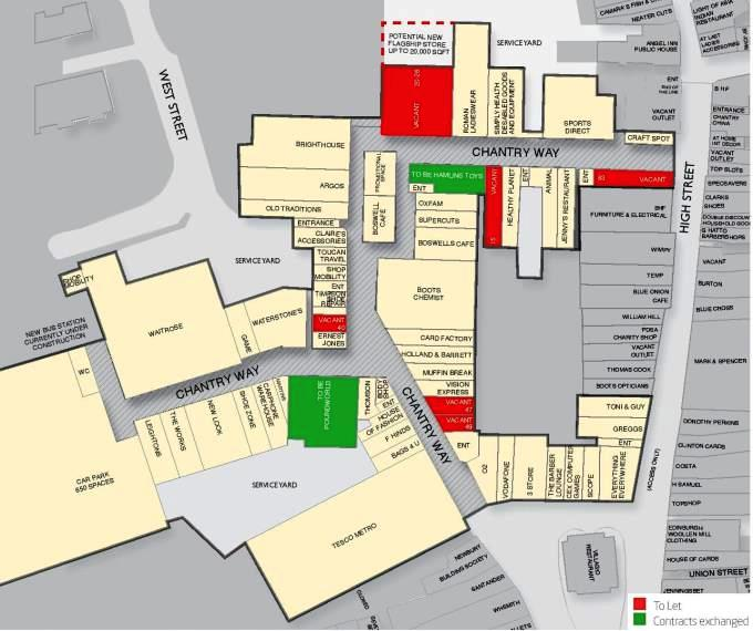 Chantry Centre Andover Layout