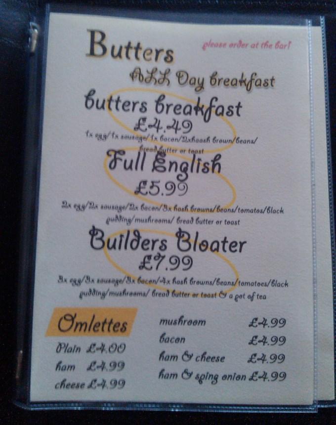 Butters Menu 1