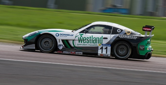 Andrew Watson #11 Douglas Motorsport Ginetta GT4 - Winner of the third race in the Ginetta GT4 supercup
