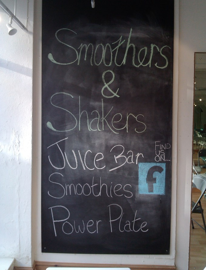 Juice and Smoothie Bar - Blackboard