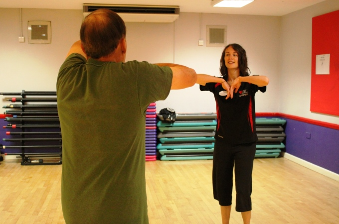Valley Leisure Healthy Hearts instructor, Sammy Meredith putting people through their paces