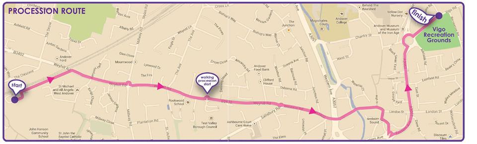 Andover Carnival Route