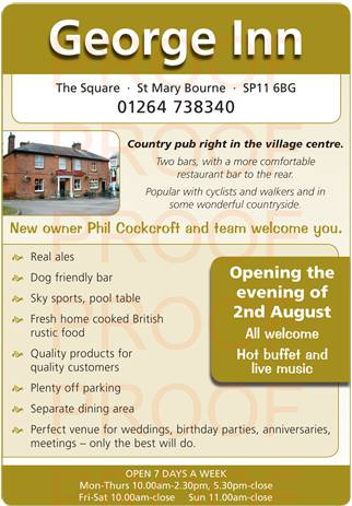 George Inn St Mary Bourne Reopening