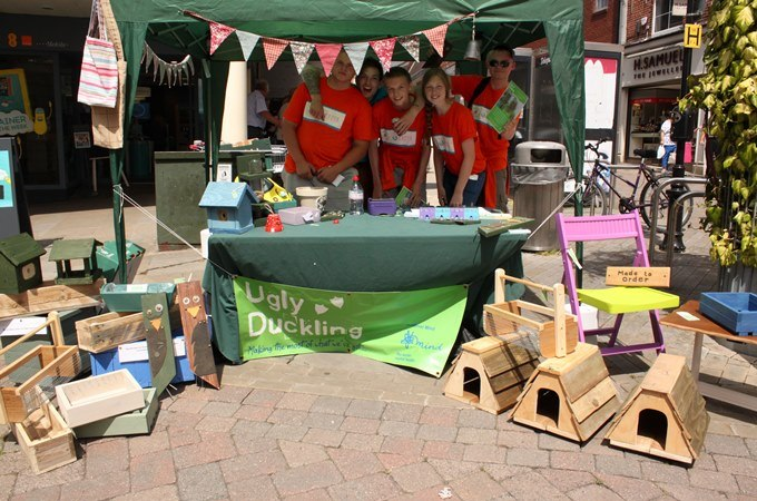 NCS Youngster help sell their Ugly Duckling recycled furniture for Mind