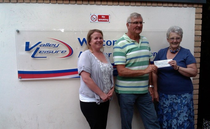 Swimathon Cheque Handover