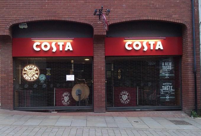 Costa Coffee Andover - Closed Frontage