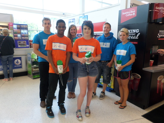 NCS Students at the Andover Asda Bag Pack