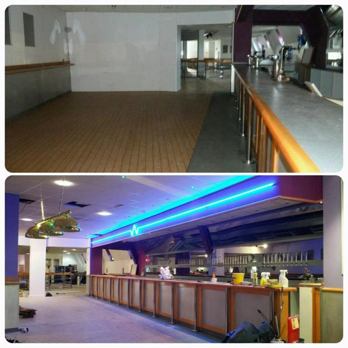 Before After - Breakers Bar Area