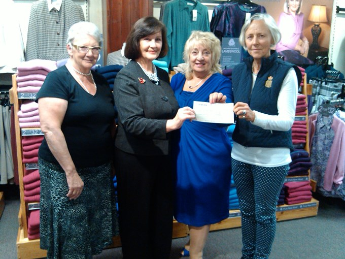 Edinburgh Woollen Mill - Cheque Presentation