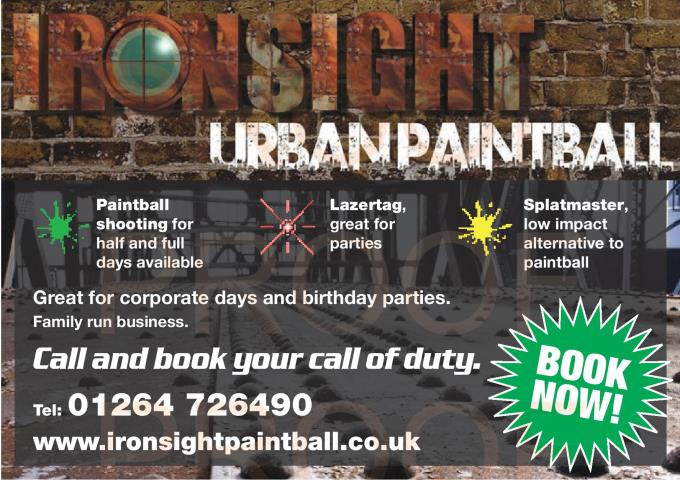 Ironsight Paintball Advert