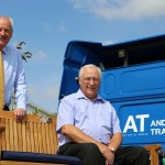 Andover Trailers MD Tim Wright (left) with Ivan Collins (right)