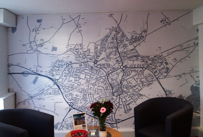 Martin and Co - Andover Wall Map