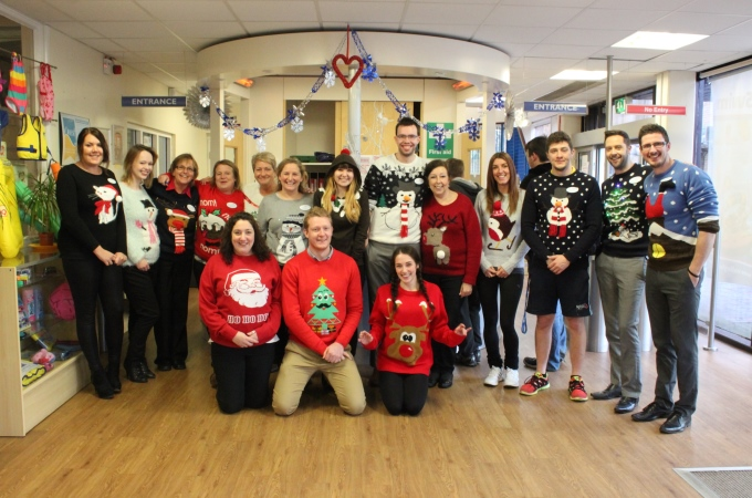 Andover Leisure Centre support Save the Children Christmas jumper day