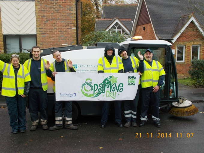 The Sparkle Day team at Junction Road in Andover