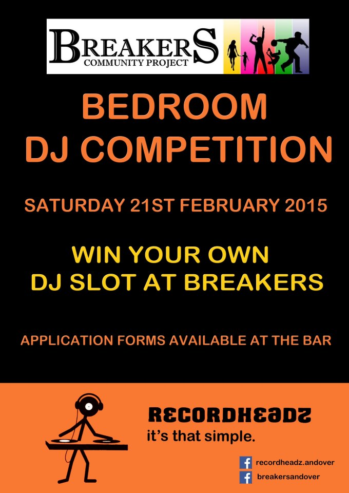 Breakers Bedroom DJ Invite Poster