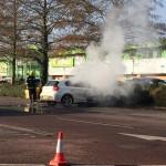 Car Fire at Enham Arch Retail Park