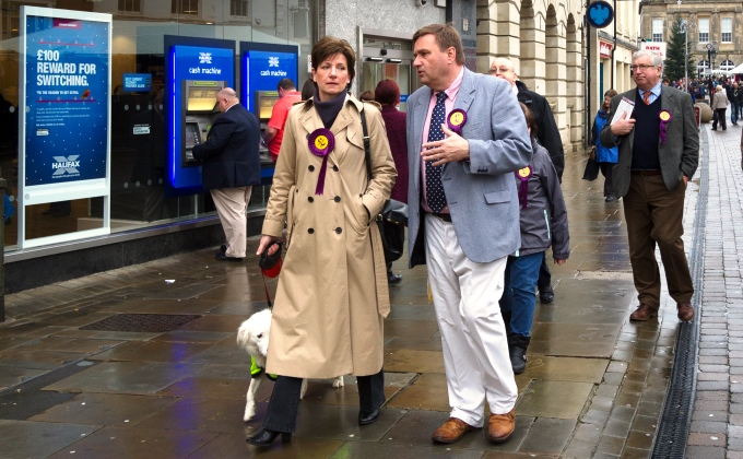 UKIP - Tony Hooke and Diane James in Andover