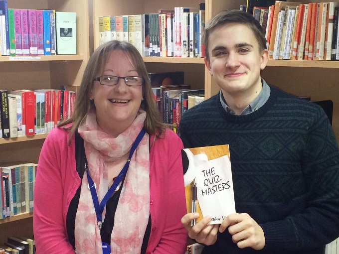 Matthew Wight and his lecturer Carys Overfield
