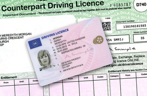 Driving Licence Photocard and Counterpart