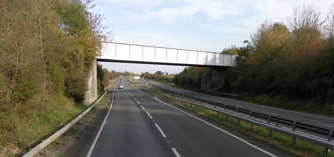 A303 near Andover (image courtesy of Google Earth)